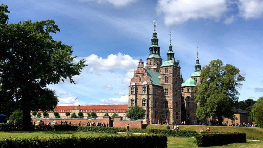 デンマーク、コペンハーゲン、城、ローゼンボー城、綺麗